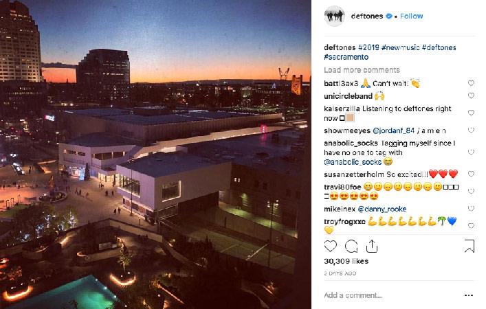 deftones new album 2019 instagram post sacramento