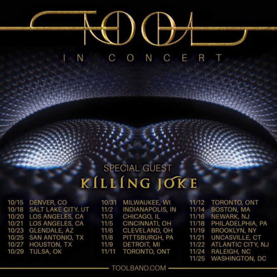 Tool 2019 North American tour dates: