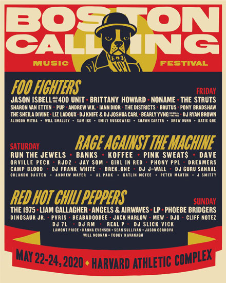Here's the 2020 Boston Calling Line-up: