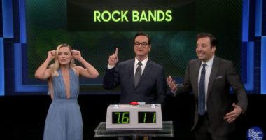 Margot Robbie talks her Slipknot and Metallica love on Fallon