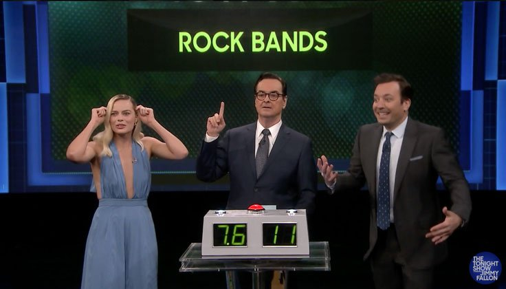 Margot Robbie talks her Slipknot and Metallica love on Fallon