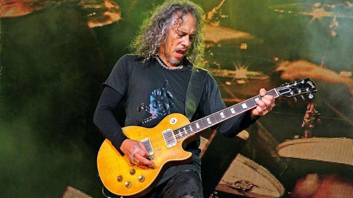 Metallica's Kirk Hammett shares a photo with his legendary guitarist