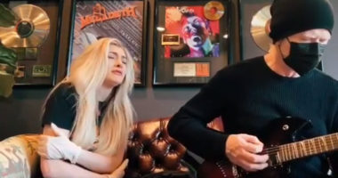 Megadeth frontman Dave Mustaine and daughter Electra cover