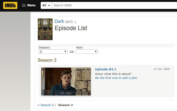 When is the release date of Dark season 3 on Netflix?