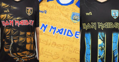 Iron Maiden introduced of new Football shirt desings