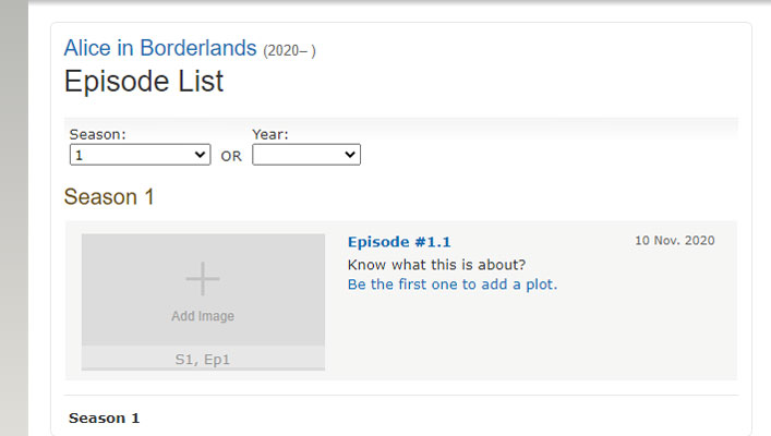 When is the release date of Alice in Borderland season 1?