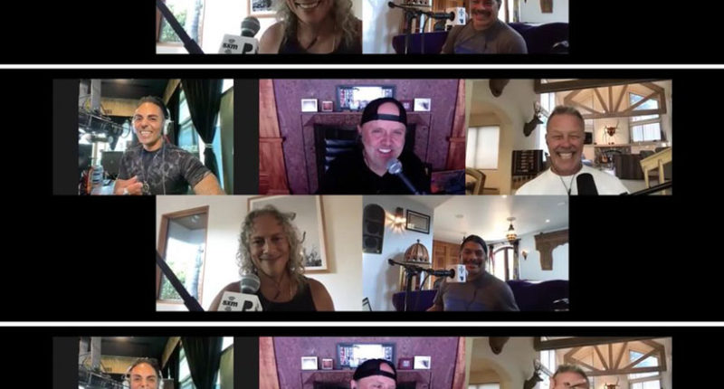 METALLICA members interview with SiriusXM's Jose Mangin