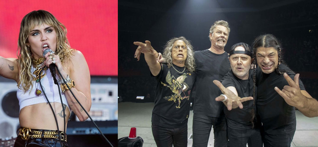 Miley Cyrus Reveals Inspired by METALLICA for Her New Album