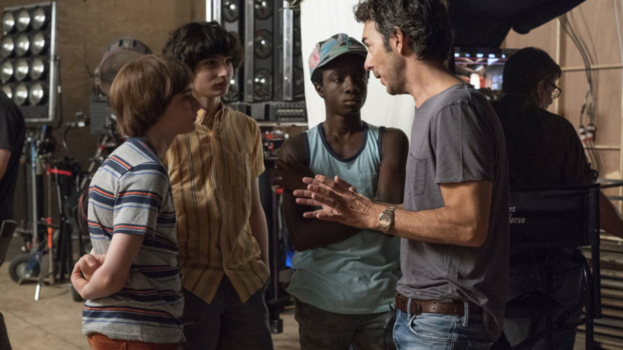 Shawn Levy with Stranger Things Cast
