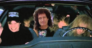 """Brian May Explains Freddie Mercury QUEEN Tribute In """"Wayne's World"""" Movie"""