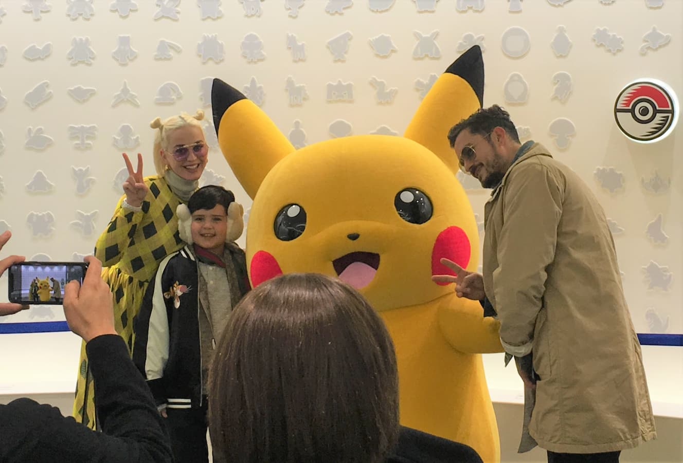 Katy Perry and Orlando Bloom visit Pokemon Cafe in Japan