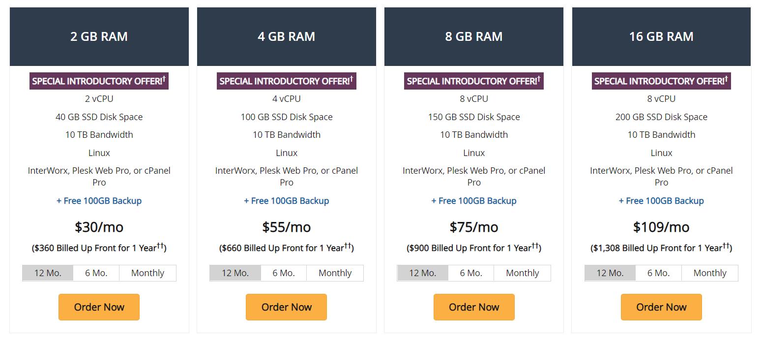 Liquid Web, Web Hosting Prices