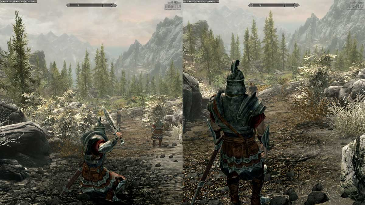 Play Skyrim in Local Splitscreen and How to Play Skyrim Co-Op?