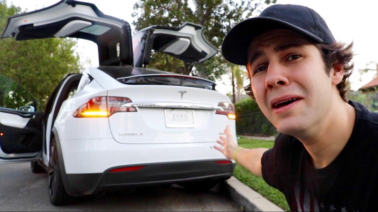David Dobrik's Tesla car.