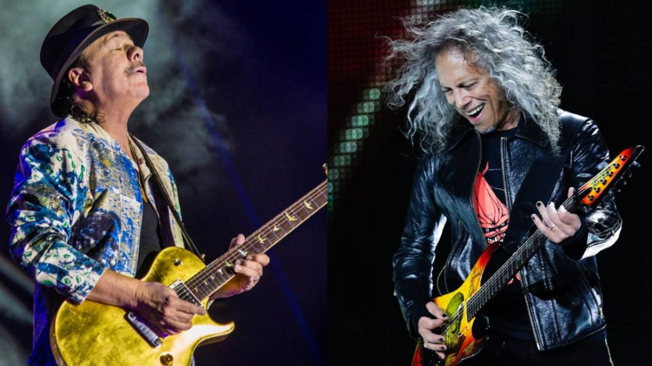 Metallica guitarist Kirk Hammett Plays in Latest Carlos Santana Album