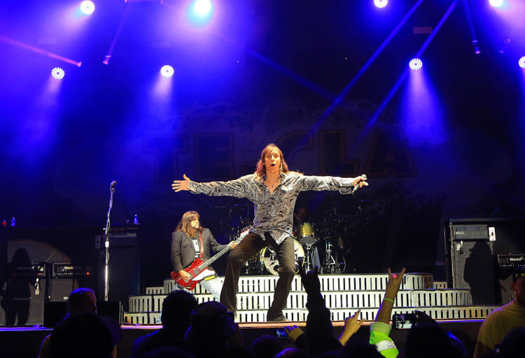 PRYOR, OK - MAY 24: Musician Jeff Keith of Tesla performs at day 3 of Rocklahoma 2015 on May 24, 2015 in Pryor, Oklahoma. (Photo by Jason Squires/WireImage)