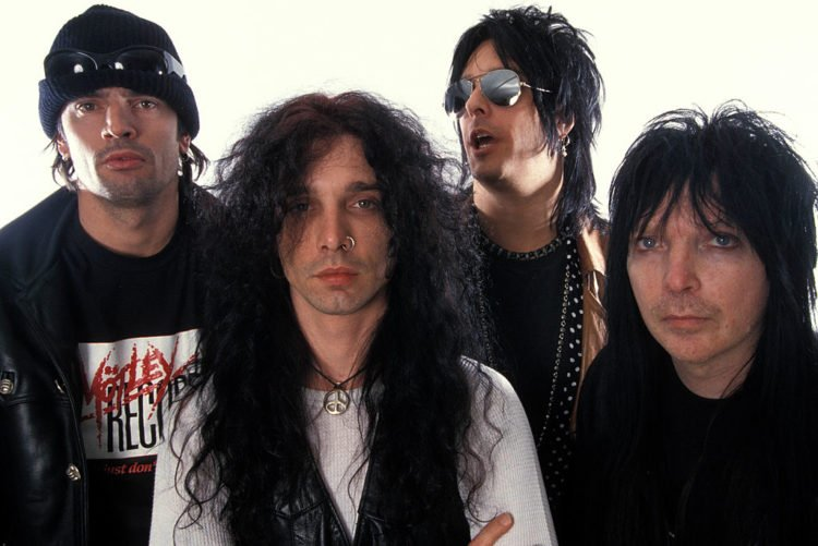 Mick MARS and John CORABI and Nikki SIXX and Tommy LEE and MOTLEY CRUE